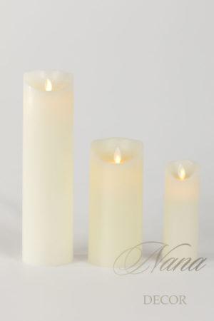 Набор из 3-х светодиодных свечей