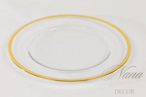 Тарелка Золотая полоса