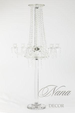 Хрустальный канделябр с подставкой для цветов